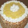 Toasted KokoNutt Pineapple Layer Cake - Pineapple Curd topping