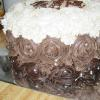 Chocolate Rosette Layer Cake (Side)